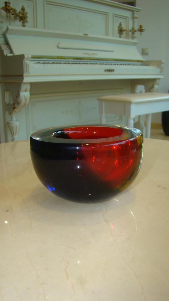 Ваза, Италия,  Муранское стекло (красная)