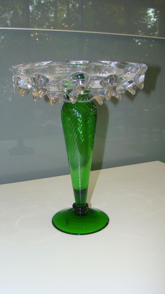 Ваза DRIADA с зеленой ножкой, Италия